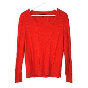 Banana Republic red cotton blend knit sweater, M